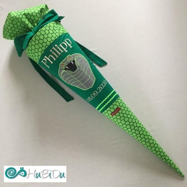 Schultüte grüne Schlange